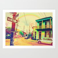 new orleans Art Prints featuring New Orleans ~ by Full Ten