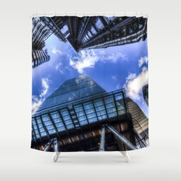 Lloyd's and the Gherkin and Cheese Grater London Shower Curtain
