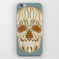 calavera iPhone & iPod Skins featuring CALAVERA by Nora