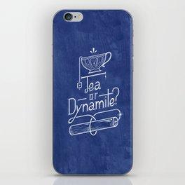 Tea or Dynamite? (blue) iPhone Skin