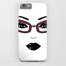 Pretty face,gothic make up,glasses iPhone Case