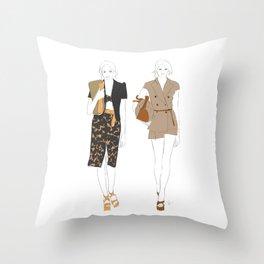 Fashion Show Runway Girls Throw Pillow