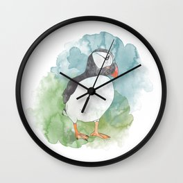 Iceland Puffin Wall Clock