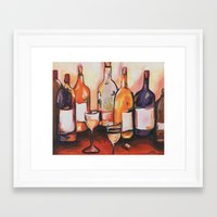 wine Framed Art Prints featuring Wine by chelzart