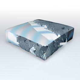 Metallic shine on a yin yang type fractal form Outdoor Floor Cushion