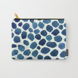 Blue Stones Watercolor Minimalist Painting Carry-All Pouch