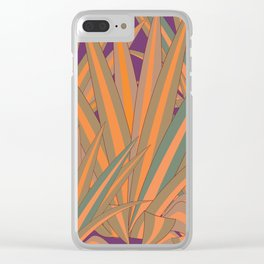 Colorful Agaves Clear iPhone Case