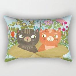 Carton Of Cute Kitties Rectangular Pillow