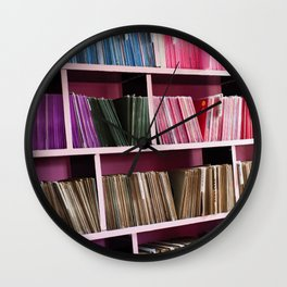 "Color Coded Vinyl 7"" Shelf Wall Clock"