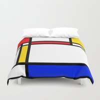 mondrian Duvet Covers featuring Mondrian by The Wellington Boot