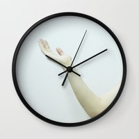 milk Wall Clocks featuring milk by Nilay Eren