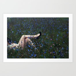 Field of Wild Flowers Art Print