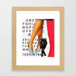 Font crimes on the front lines, vol. 1 Framed Art Print