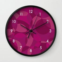 Fuchsia Circles Wall Clock