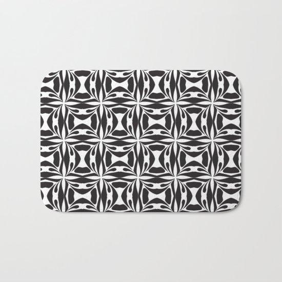 pattern black form 8 Bath Mat