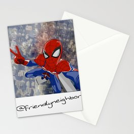 selfie on top Stationery Cards