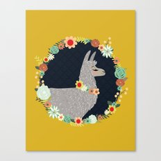lovely llama Canvas Print