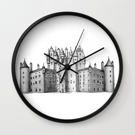 huge castle Wall Clock
