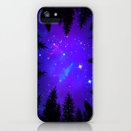 Magical Forest Galaxy Night Sky iPhone Case