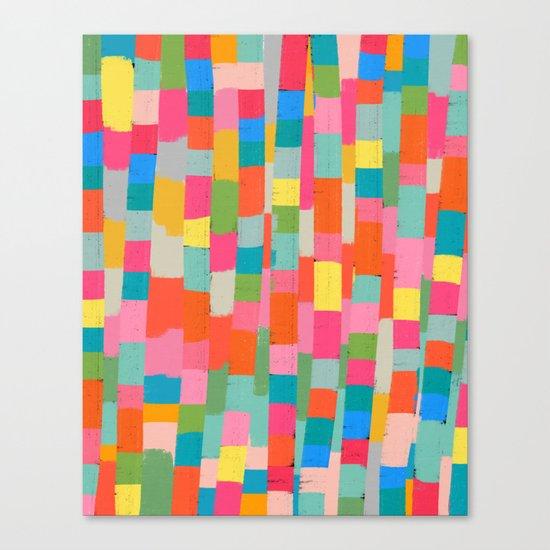 colorful patchwork 2 Canvas Print