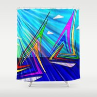 sail Shower Curtains featuring SAIL. by capricorn