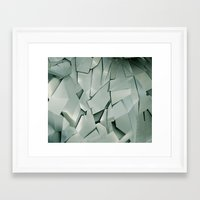 metal Framed Art Prints featuring METAL by peocle