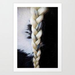Equine Braid Art Print