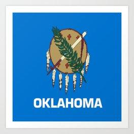 flag of oklahoma-Oklahoma,south,Oklahoman,Okie, usa,america,Tulsa,Norman,Broken Arrow Art Print