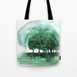 Exposed, abstract tree roots Tote Bag