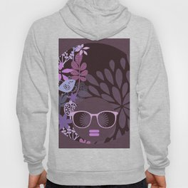 Afro Diva Lavender Purple-Taupe Hoody