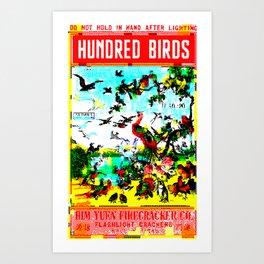 Hundred Birds Art Print