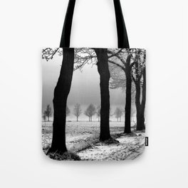 Snowy Day in the Country Tote Bag