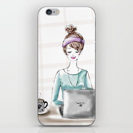 Busy Blogger iPhone Skin