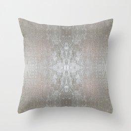 Silver Velvet Snake Pattern Throw Pillow