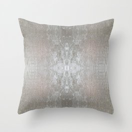 Silver Velvet Snake Pattern Throw Pillow