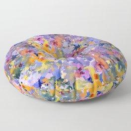 Yellow Primrose Garden Floor Pillow