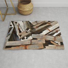 Wooden Pegs Rug