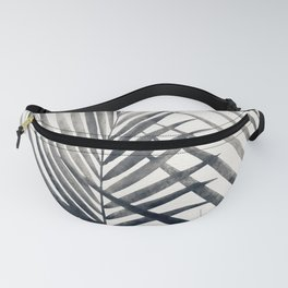 Black and White Palms Fanny Pack