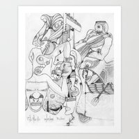 airplane Art Prints featuring Airplane by ℳajd