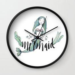 Art sleeping mermaid Wall Clock