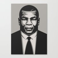 mike tyson Canvas Prints featuring TYSON by UCArts