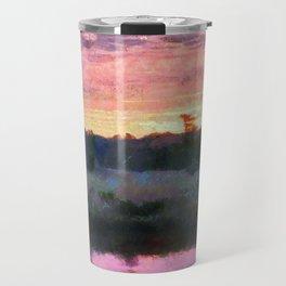 Monet Inspired Sunrise Travel Mug