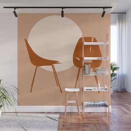 Mid-century chairs Wall Mural