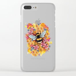 Neo Traditional Bee Clear iPhone Case