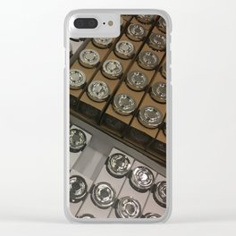 Chrome Caps. Fashion textures Clear iPhone Case