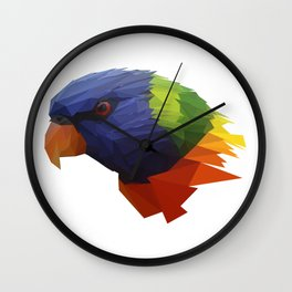 Low Poly Parrot Wall Clock