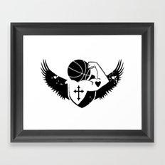 Faith Strength Heart Basketball Framed Art Print