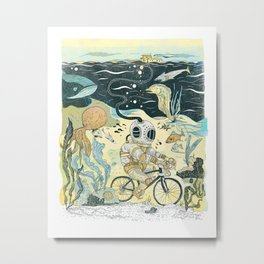 Cycling in the Deep Metal Print