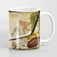 football Mugs featuring Football by Robin Curtiss