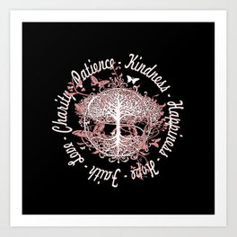 Hope Faith Love Art Print